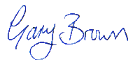 Gary Brown signature