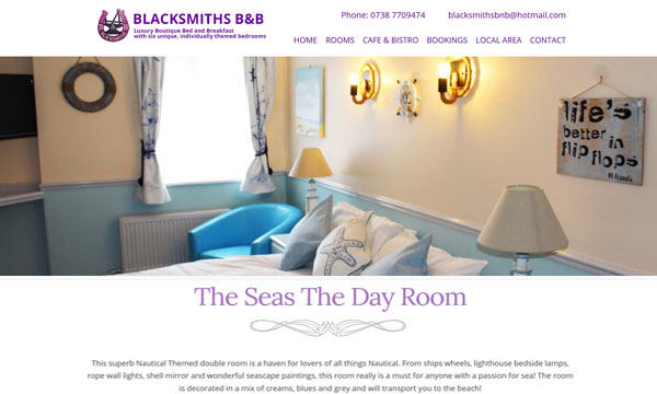 Blacksmiths B&B Website