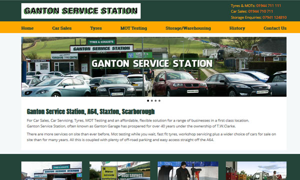 Ganton Service Station Website
